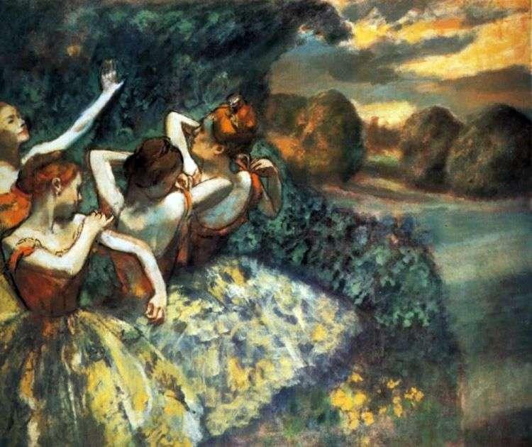 Четыре танцовщицы   Эдгар Дега