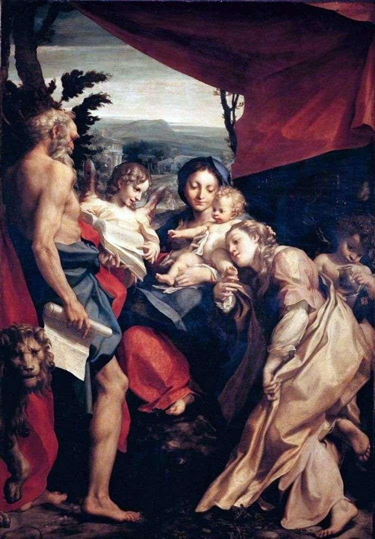 Мадонна со святым Иеронимом   Корреджо (Антонио Аллегри)