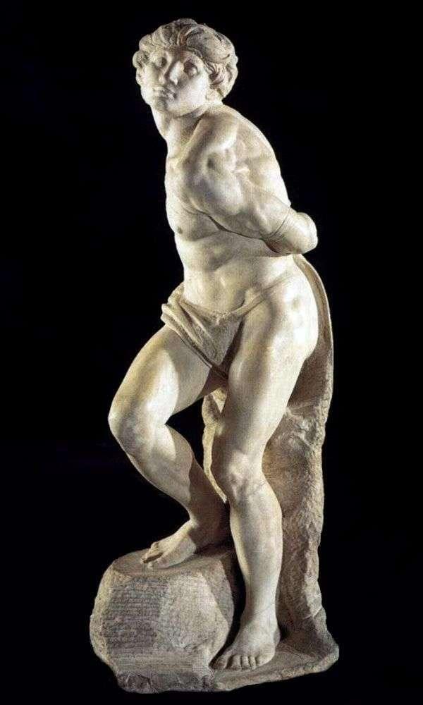 Скованный раб (скульптура)   Микеланджело Буонарроти