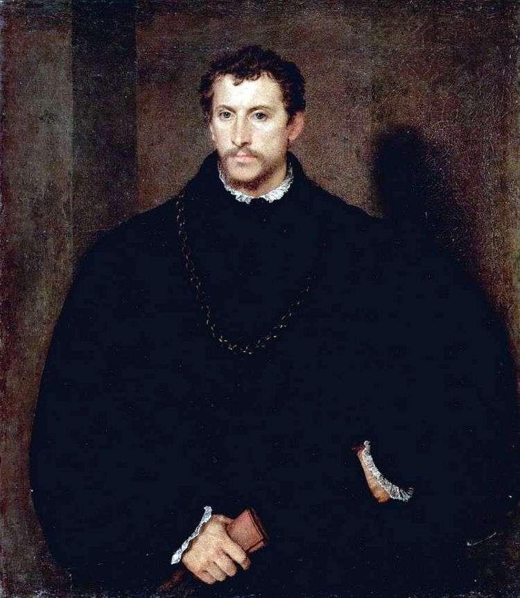 Портрет молодого человека (Портрет Ипполито Риминальди)   Тициан Вечеллио