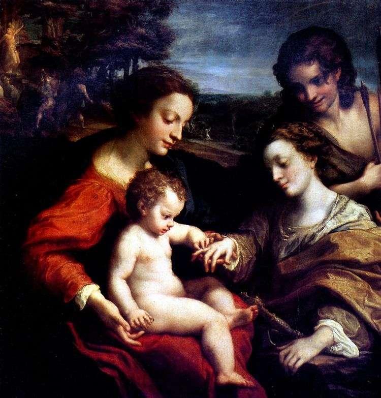 Обручение святой Екатерины   Корреджо (Антонио Аллегри)
