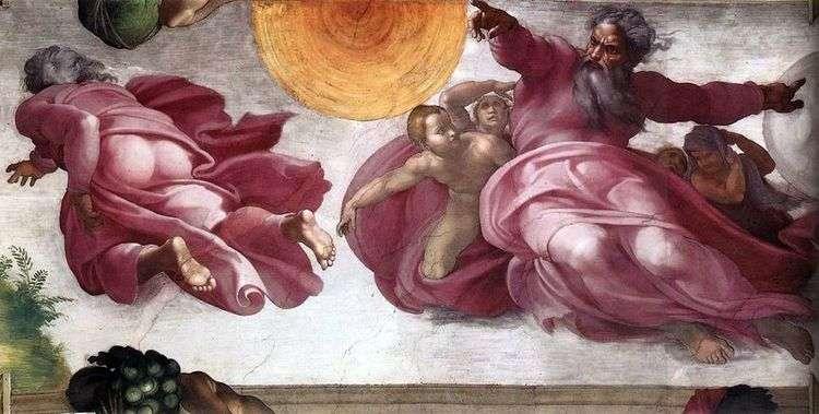 Сотворение светил и растений   Микеланджело Буонарроти