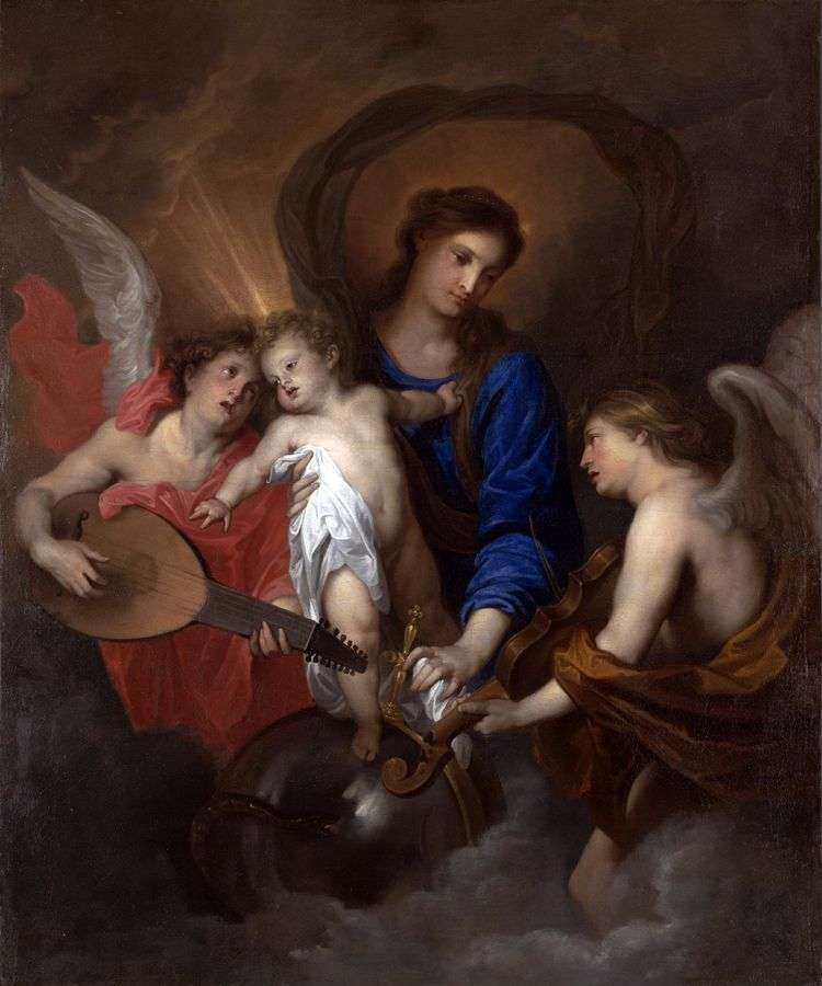 Мадонна с Младенцем и ангелами   Энтони Ван Дейк