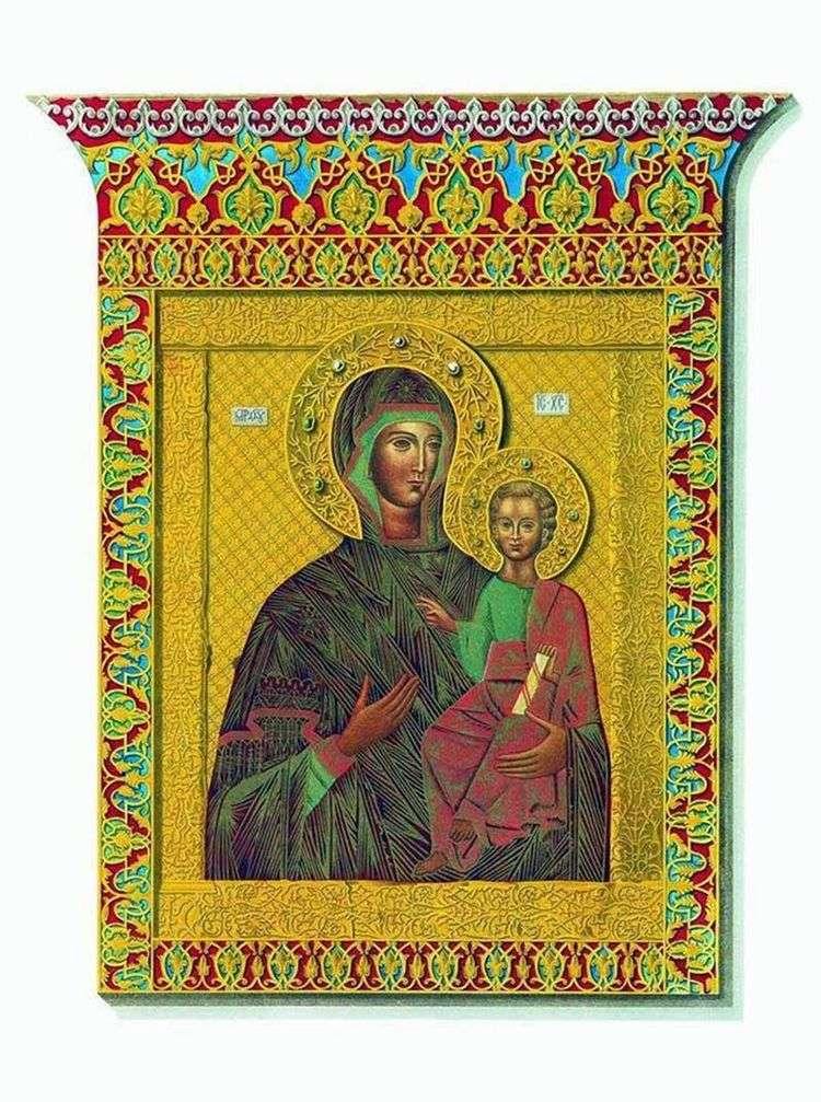 Святая икона Одигитрии Смоленской Богоматери   Федор Солнцев