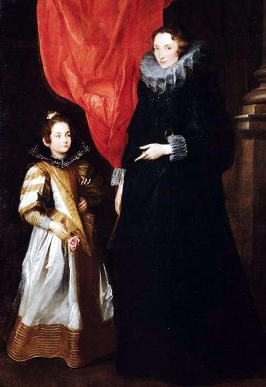 Портрет Джеронимы Бриньоле Сале с дочерью Марией Аурелией   Энтони Ван Дейк