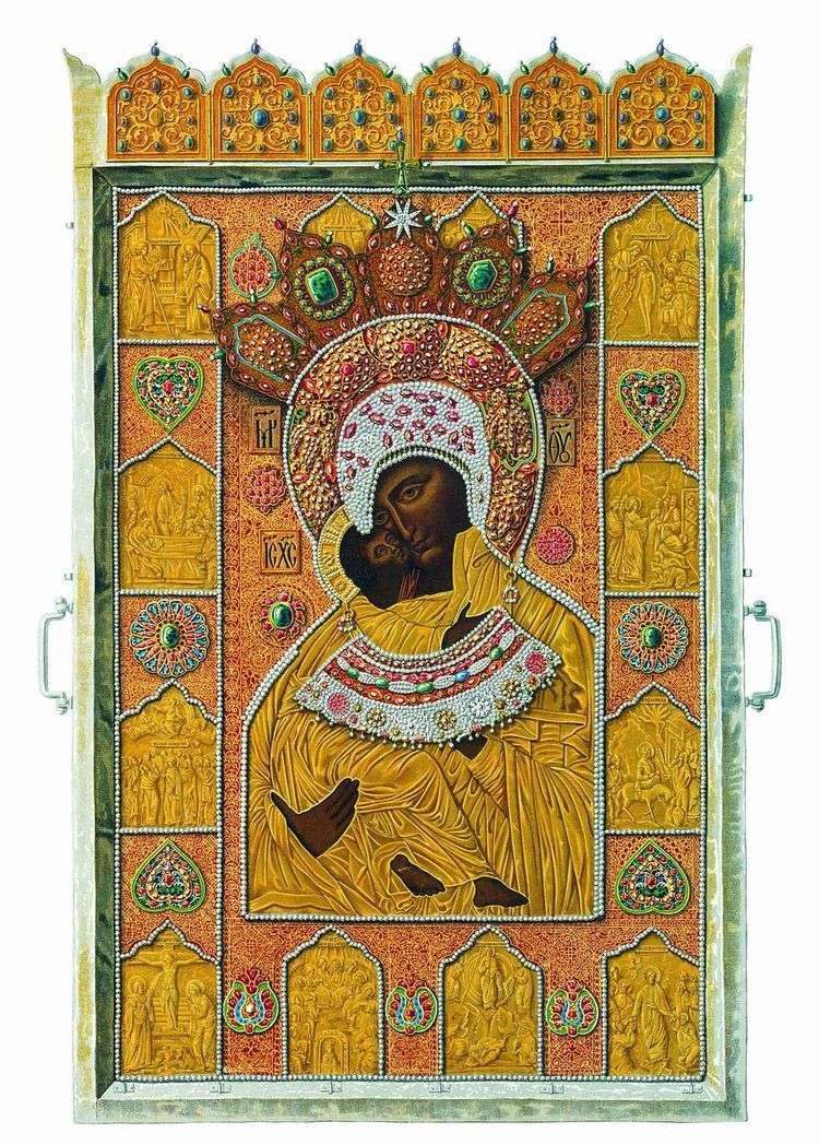Чудотворный образ Владимирской Божией Матери   Федор Солнцев