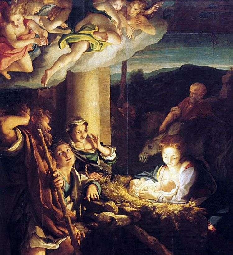 Рождество Христово (Ночь)   Корреджо (Антонио Аллегри)