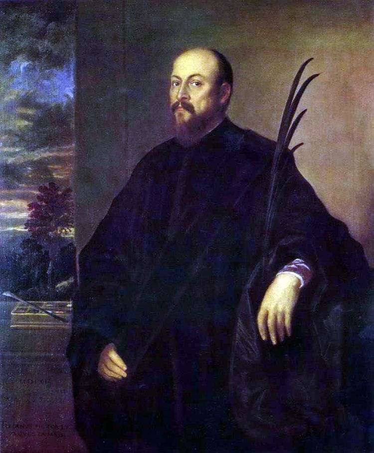 Портрет художника с пальмовым листом   Тициан Вечеллио