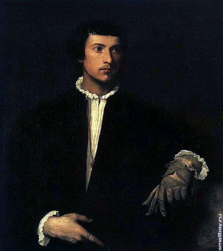 Портрет юноши с разорванной перчаткой   Тициан Вечеллио