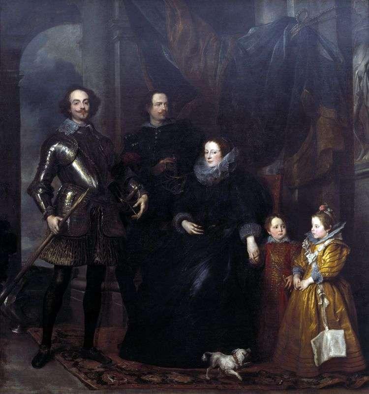 Портрет семьи Ломеллини   Энтони Ван Дейк