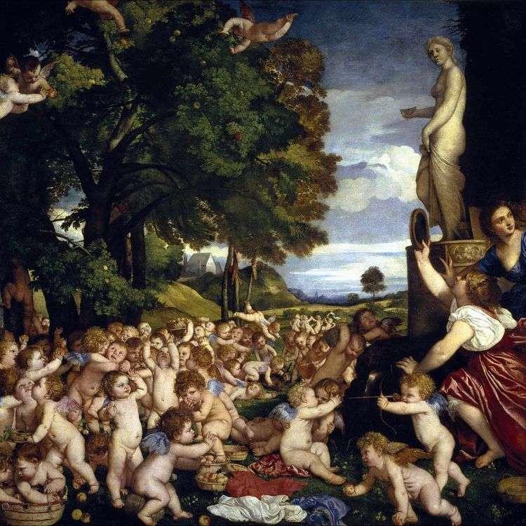 Праздник Венеры (Вакханалия младенцев)   Тициан Вечеллио