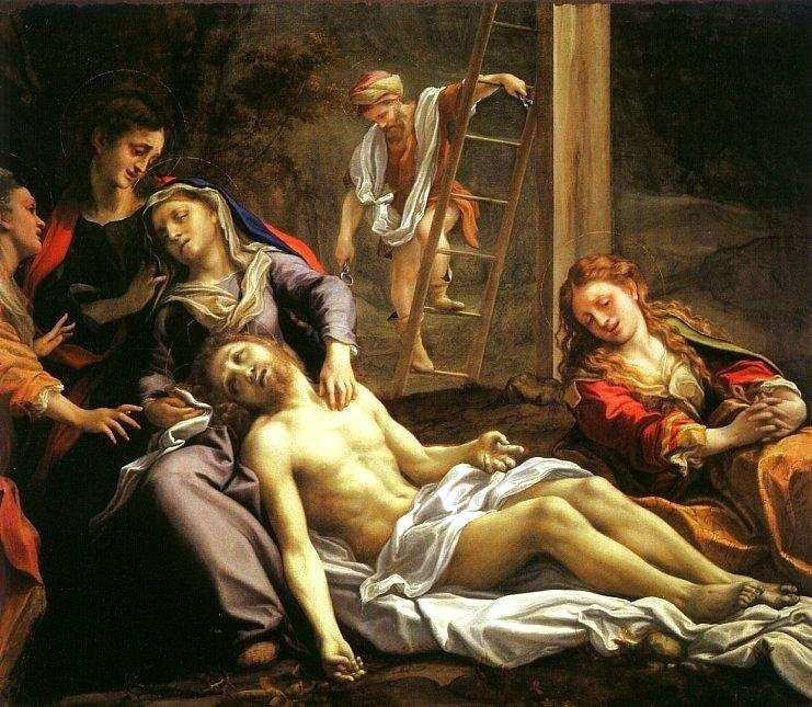 Снятие с креста   Корреджо (Антонио Аллегри)