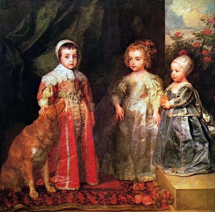 Портрет трех старших детей Карла I   Энтони Ван Дейк