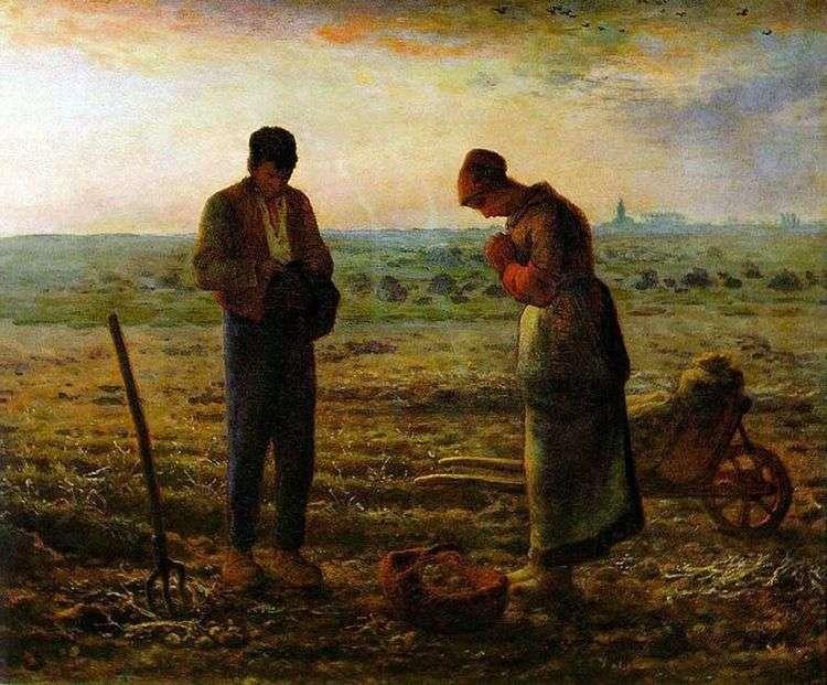 Анжелюс (Вечерняя молитва)   Жан Франсуа Милле