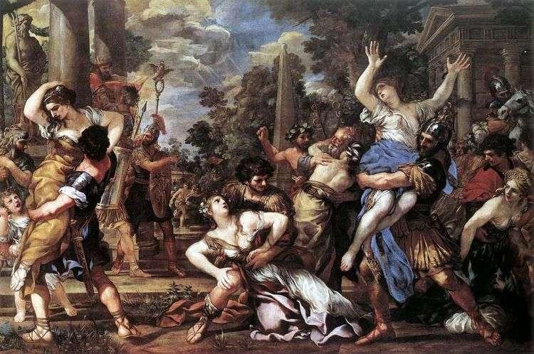 Похищение сабинянок   Пьетро да Кортона