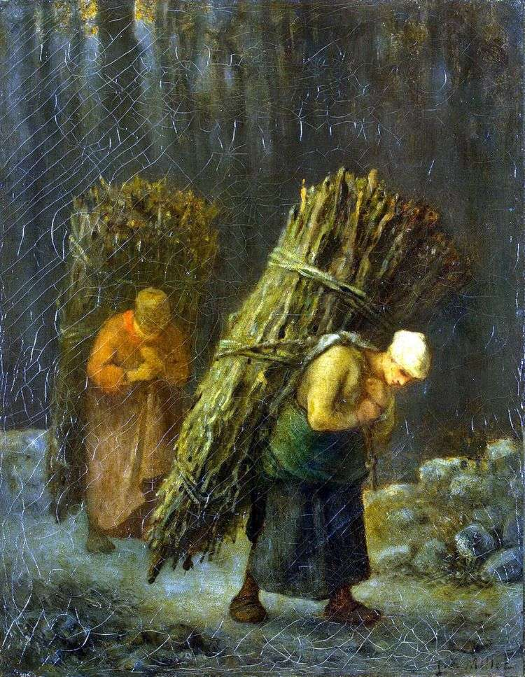 Крестьянки с хворостом   Жан Франсуа Милле