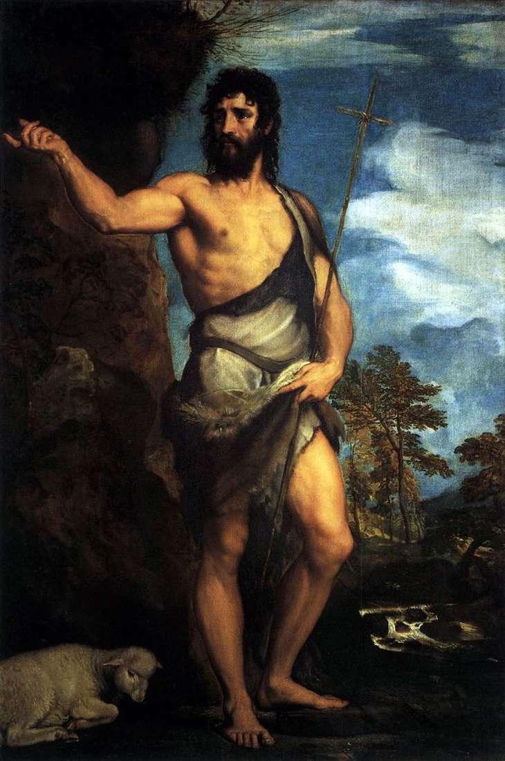 Св. Иоанн Креститель в пустыне   Тициан Вечеллио
