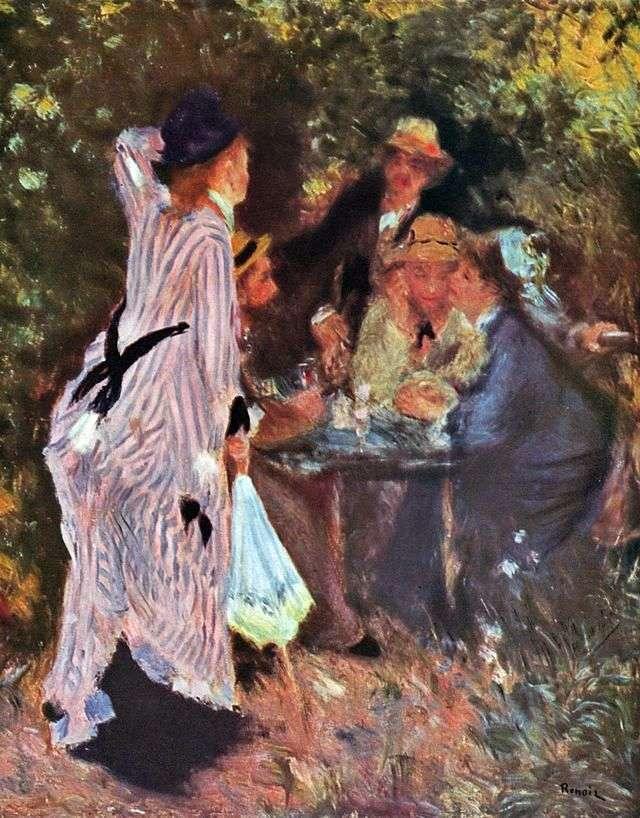 В саду (Под деревьями в Мулене де ла Галетт)   Пьер Огюст Ренуар