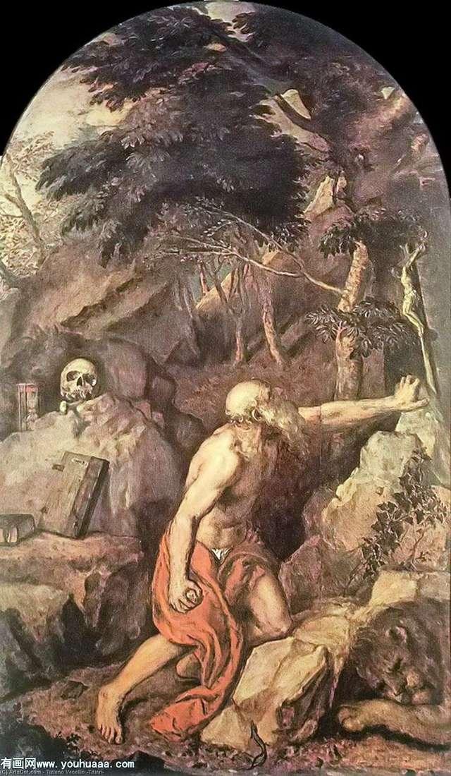 Святой Иероним   Тициан Вечеллио