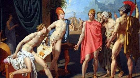 Послы Агамемнона в палатке Ахиллеса   Жан Огюст Доминик Энгр