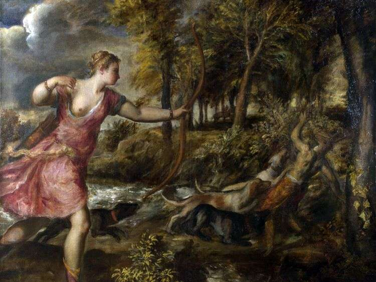 Смерть Актеона   Тициан Вечеллио
