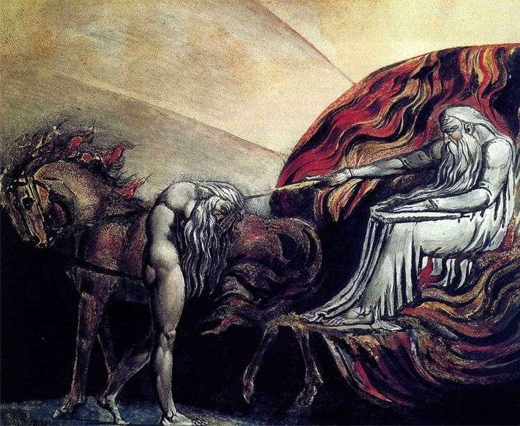 Адам перед судом бога   Ульям Блейк