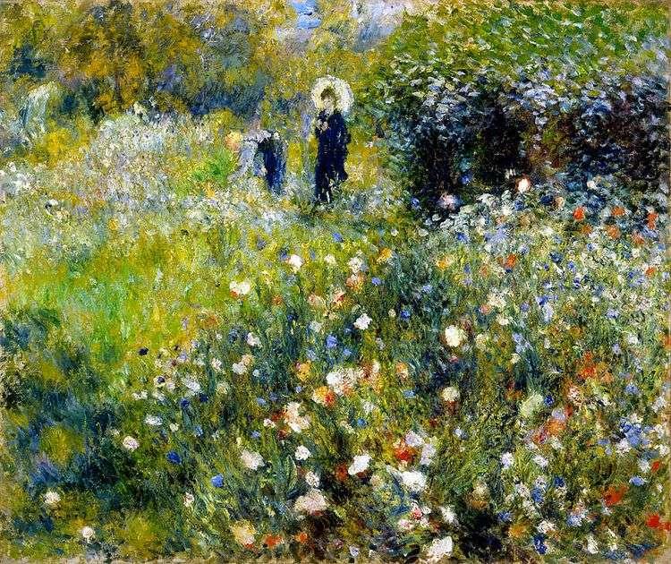 Женщина с зонтиком в саду   Пьер Огюст Ренуар