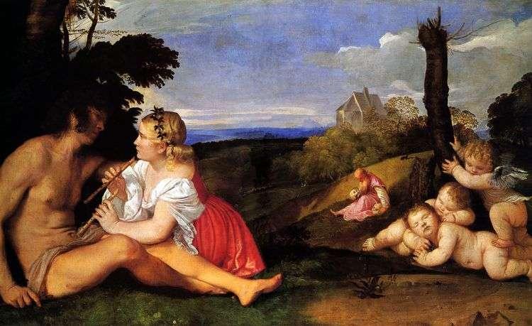 Три возраста человека (Аллегория трех возрастов)   Тициан Вечеллио