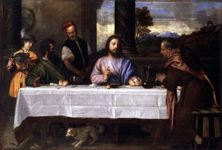 Ужин в Эммаусе   Тициан Вечеллио