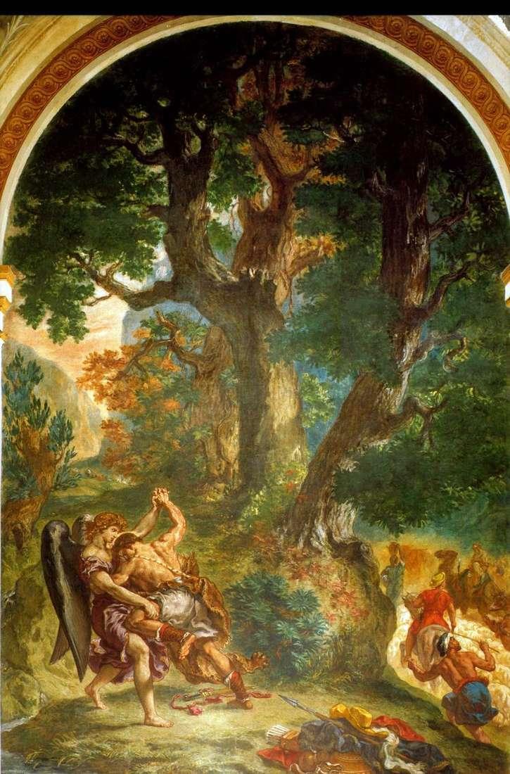 Единоборство Иакова с ангелом   Эжен Делакруа