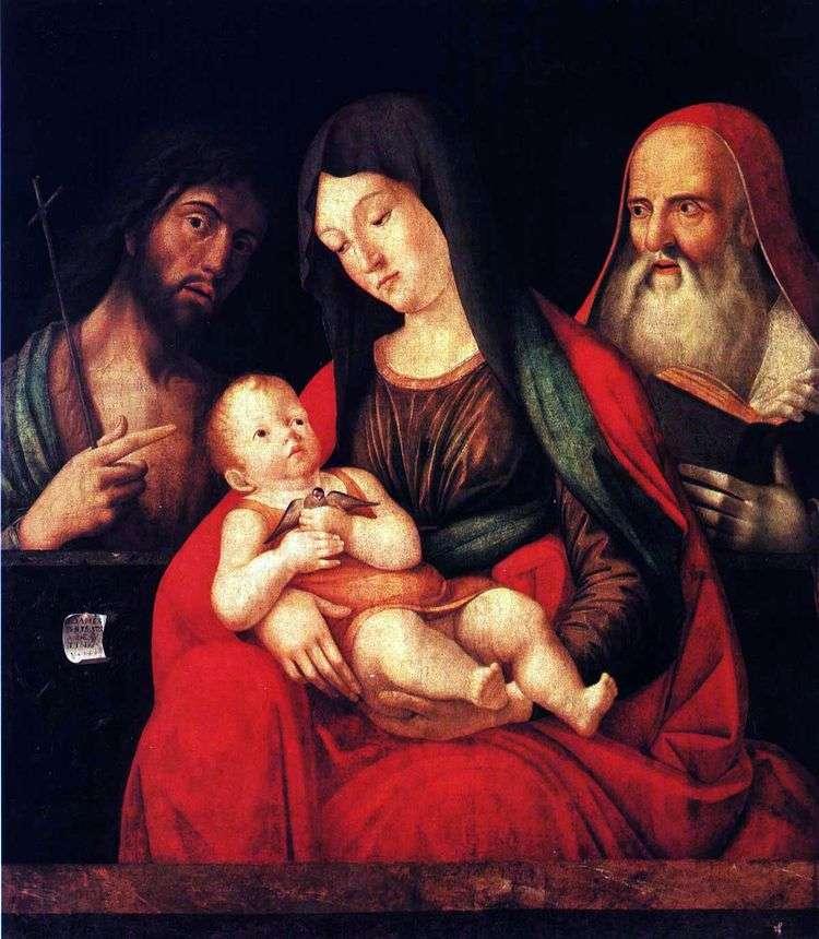 Мария с младенцем, Иоанном Крестителем и святым Иеронимом   Альвизе Виварини