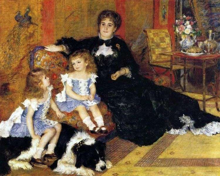 Мадам Шарпантье с детьми   Пьер Огюст Ренуар