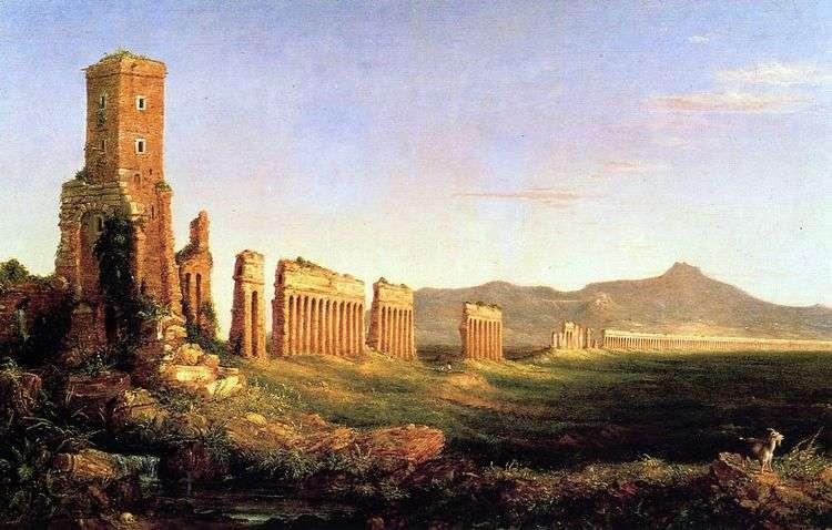 Акведук возле Рима   Томас Коул