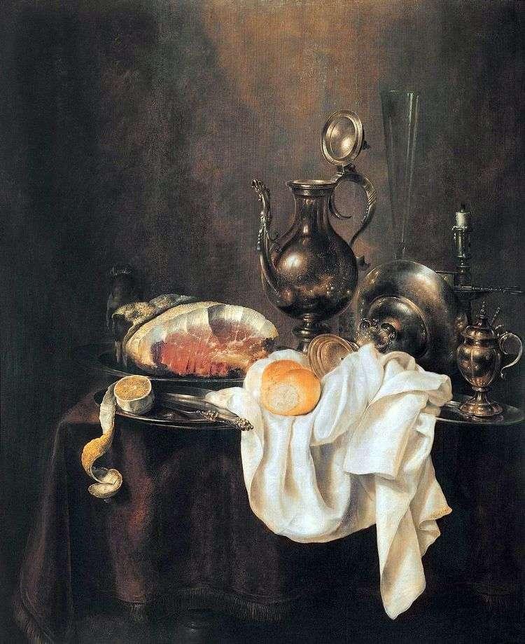 Ветчина и серебряная посуда   Хеда Геррит Виллемс