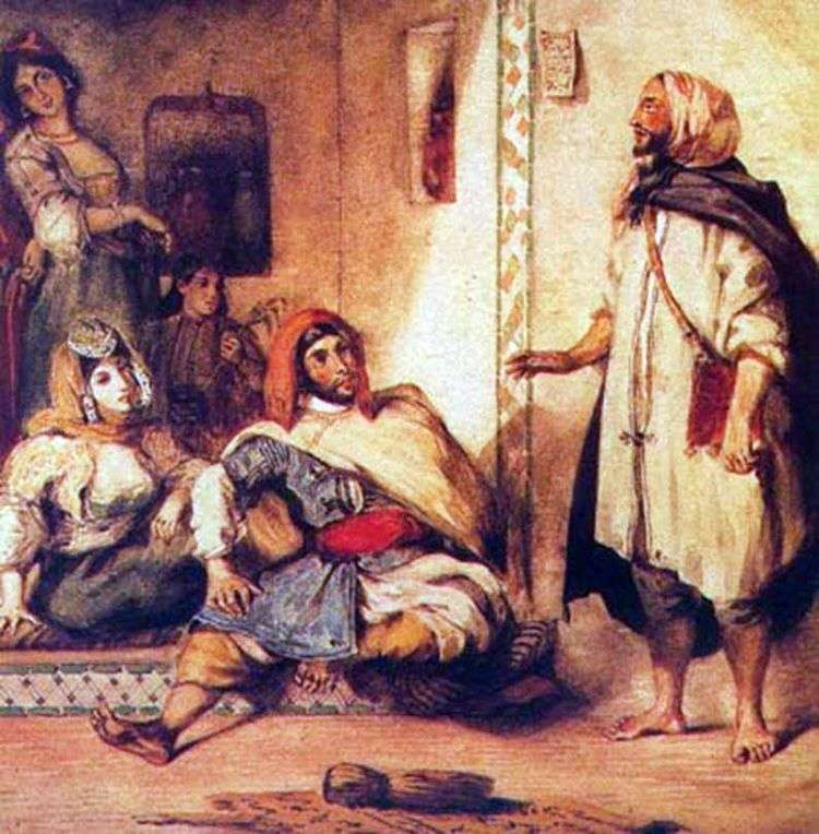 Марокканская семья   Эжен Делакруа