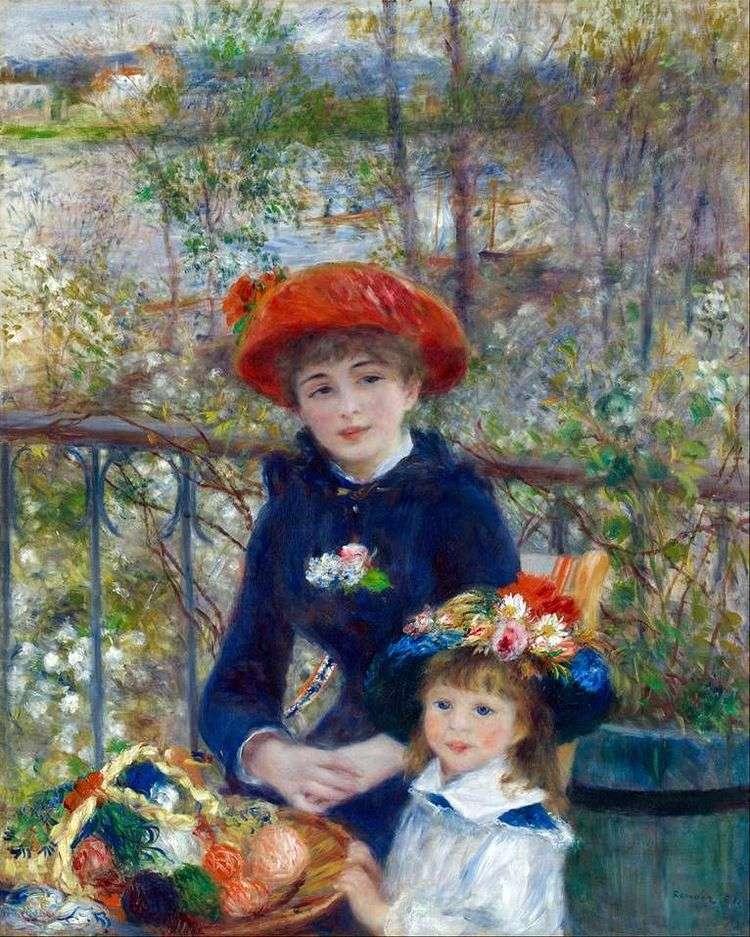 На террасе (Две сестры)   Пьер Огюст Ренуар