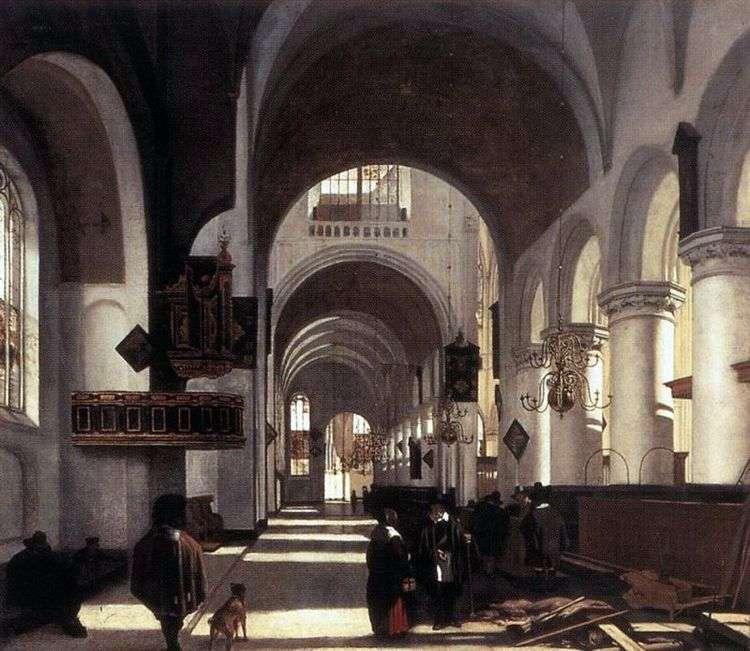 Церковный интерьер   Эмануэл де Витте