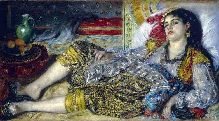 Одалиска (Алжирская женщина)   Пьер Огюст Ренуар