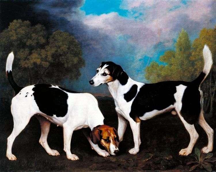 Пейзаж с охотничьими собаками   Джордж Стаббс