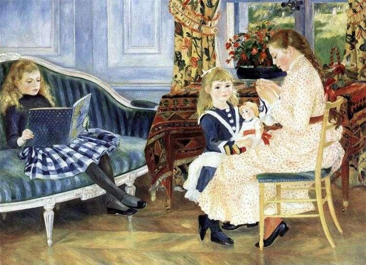 Полдень детей в Варжемоне   Пьер Огюст Ренуар