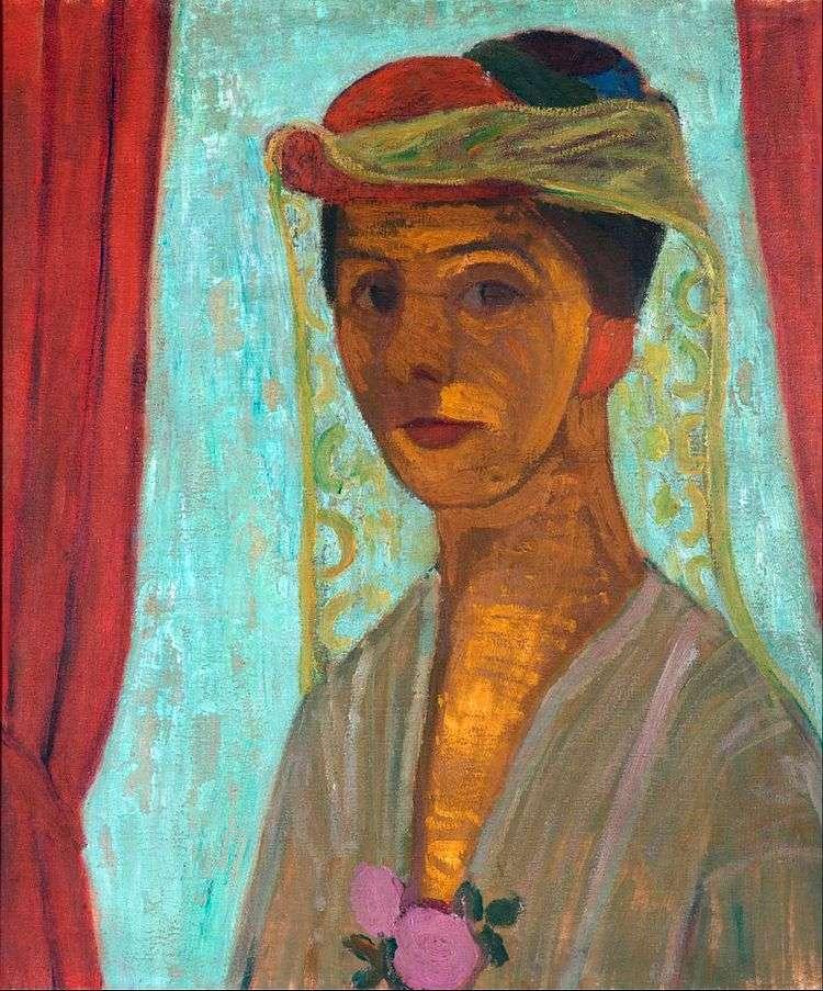 Автопортрет в шляпе с вуалью   Паула Модерзон Беккер