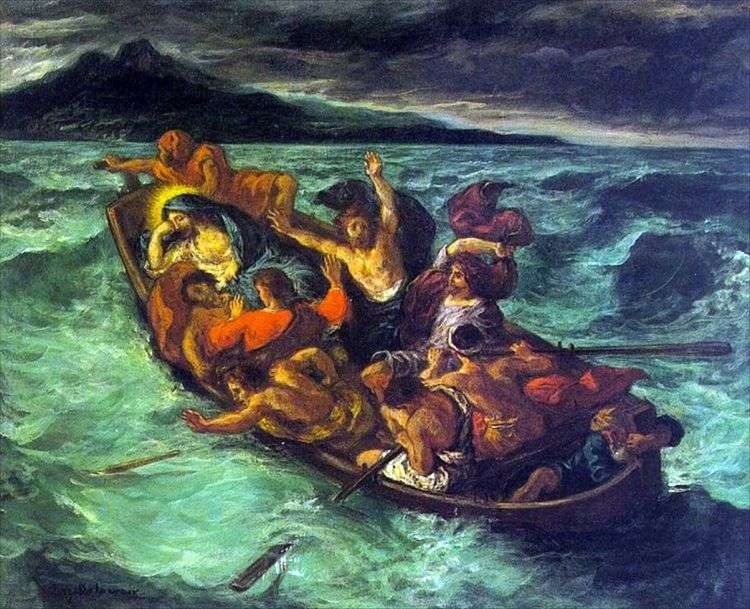 Сон Христа во время бури   Эжен Делакруа