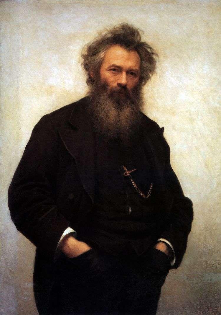 Портрет И. И. Шишкина   Иван Крамской