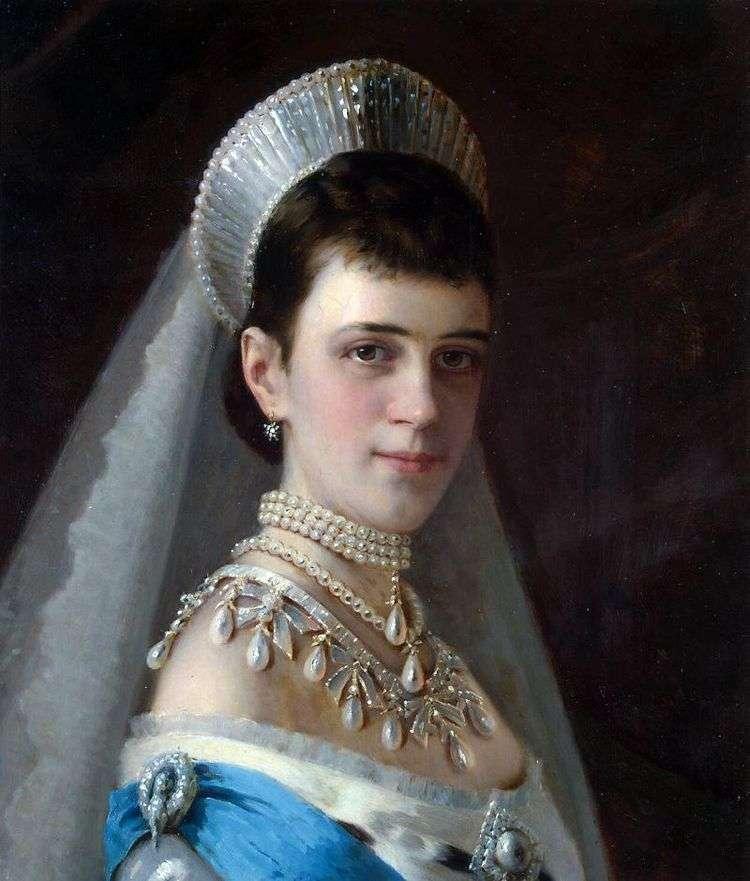 Портрет императрицы Марии Федоровны в жемчужном уборе   Иван Крамской