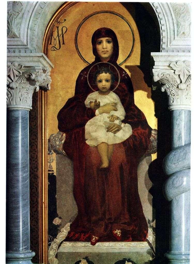 Богоматерь с Младенцем   Михаил Врубель
