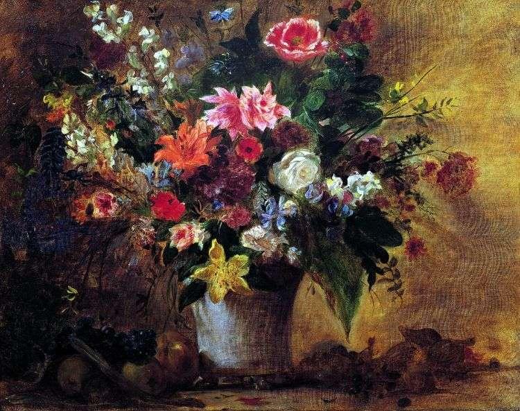 Цветы и фрукты   Эжен Делакруа