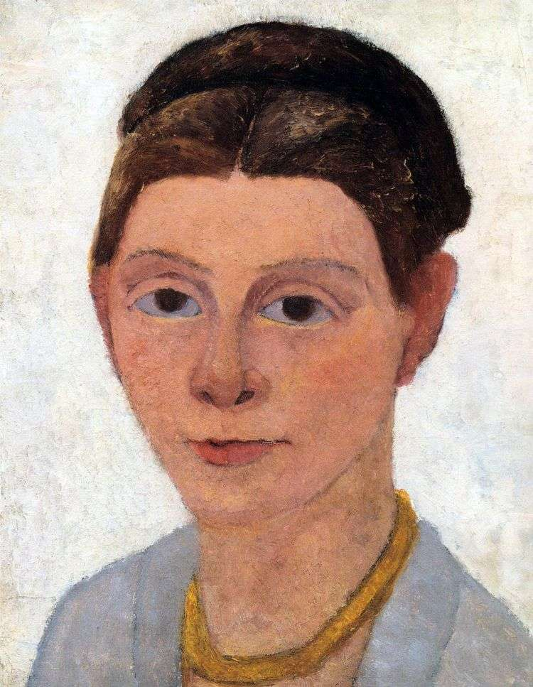 Автопортрет с янтарным ожерельем   Паула Модерзон Беккер