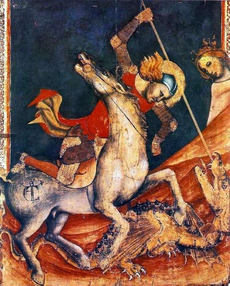 Битва св. Георгия с драконом. Ок   Витале да Болонья