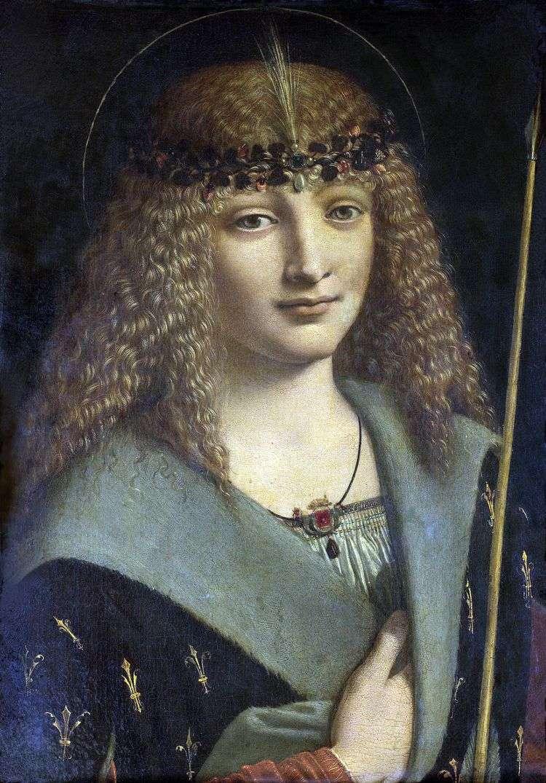 Портрет юноши в образе святого Себастьяна   Антонио Больтраффио