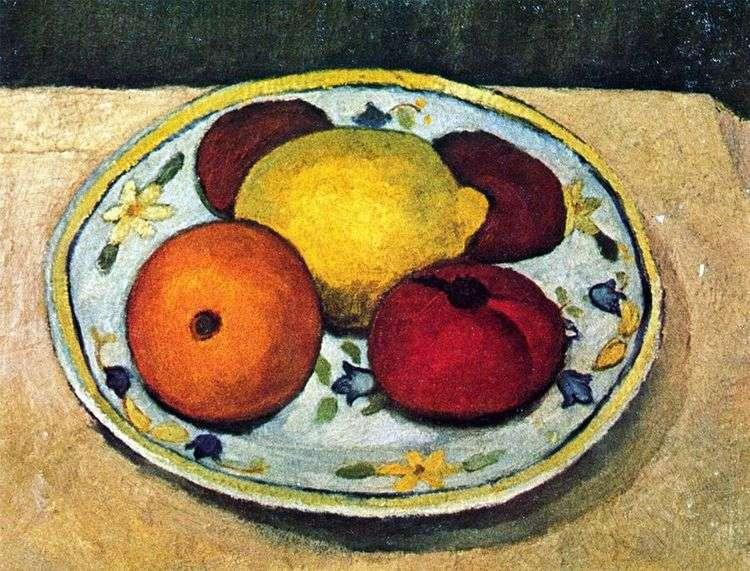 Натюрморт с лимоном, апельсином и помидором   Паула Модерзон Беккер